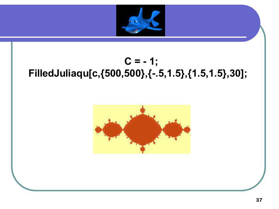 FilledJuliaqu[c,{500,500},{-.5,1.5},{1.5,1.5},30];